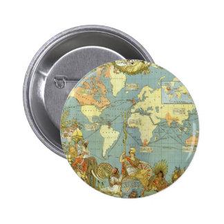 Mapa del mundo antiguo, Imperio británico, 1886 Pin
