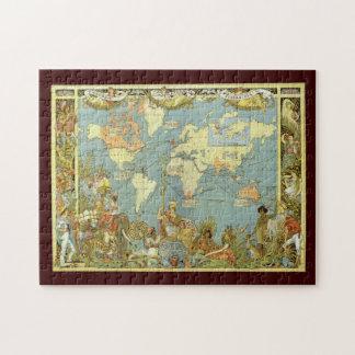 Mapa del mundo antiguo, Imperio británico, 1886 Puzzles Con Fotos