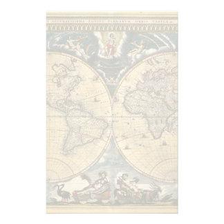 Mapa del mundo antiguo J. Blaeu 1664 Papelería De Diseño