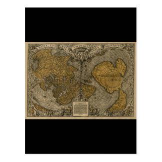 Mapa del mundo antiguo medieval clásico por la mul postal