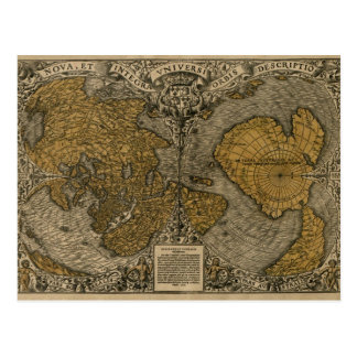 Mapa del mundo antiguo medieval clásico por la mul tarjeta postal