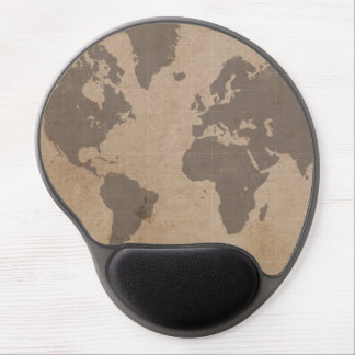 Mapa del mundo antiguo Mousepad Alfombrilla Con Gel