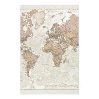 Mapa del mundo antiguo papelería