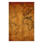 Mapa del mundo antiguo papeleria
