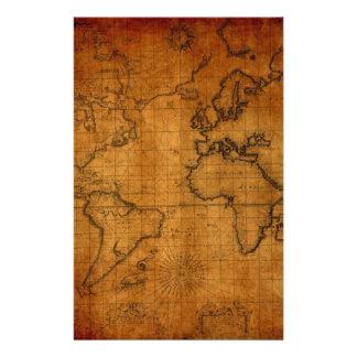 Mapa del mundo antiguo papelería de diseño