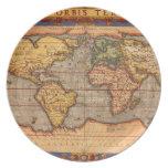 Mapa del mundo antiguo plato
