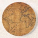 Mapa del mundo antiguo posavasos diseño