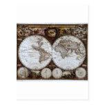 Mapa del mundo antiguo postal