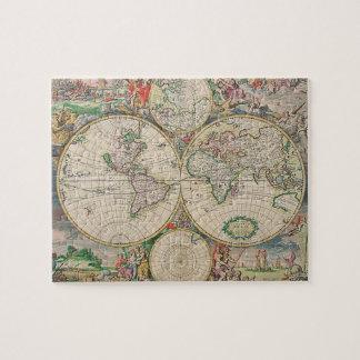 Mapa del mundo antiguo puzzle