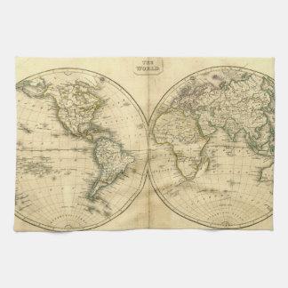 Mapa del mundo antiguo toalla