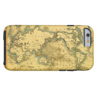 Mapa del mundo antiguo viejo funda resistente iPhone 6