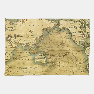 Mapa del mundo antiguo viejo toallas