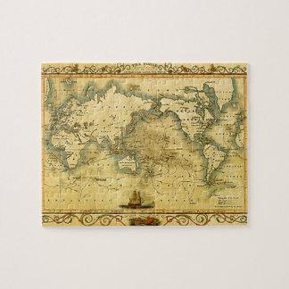 Mapa del mundo antiguo viejo puzzle