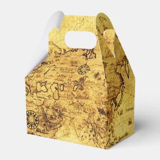 Mapa del mundo antiguo VII del oro viejo del Caja Para Regalos De Fiestas