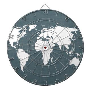 Mapa del mundo. azul y blanco
