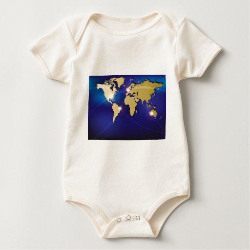 Mapa del mundo body para bebé