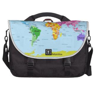 Mapa del mundo bolsa de ordenador