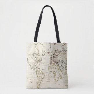 Mapa del mundo bolsa de tela