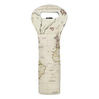 Mapa del mundo bolsas para botella de vino