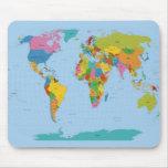 Mapa del mundo brillante tapete de ratón