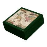 Mapa del mundo caja de recuerdo