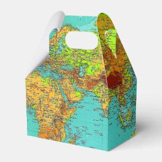 Mapa del mundo - caja del favor del aguilón cajas para regalos