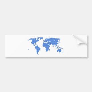 Mapa del mundo etiqueta de parachoque