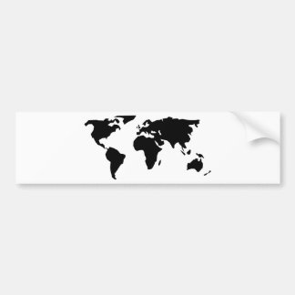 Mapa del mundo pegatina de parachoque