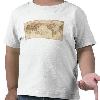 Mapa del mundo camiseta