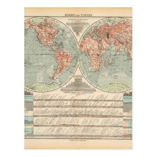 Mapa del mundo canoso 24 postales
