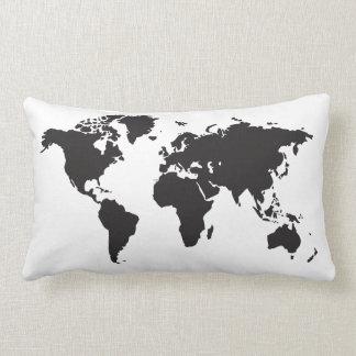 mapa del mundo cojines