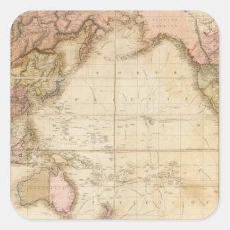 Mapa del mundo colcomanias cuadradass