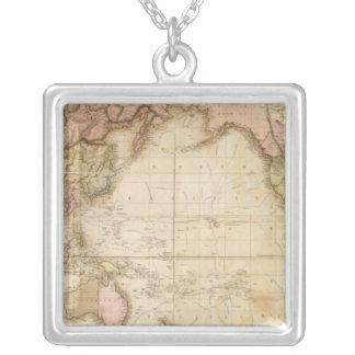 Mapa del mundo colgante cuadrado
