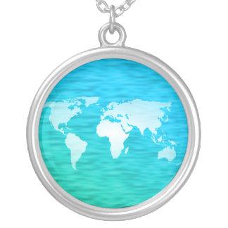 Mapa del mundo colgante redondo