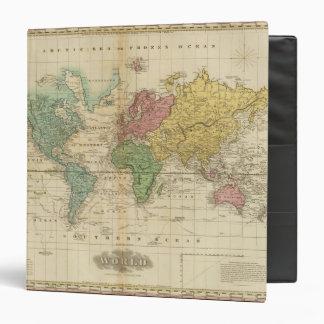 """Mapa del mundo colorido carpeta 1 1/2"""""""