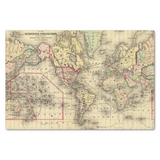 Mapa del mundo con las rutas marítimas de los