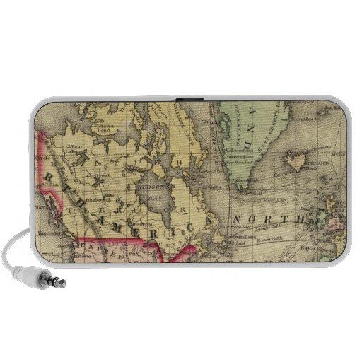 Mapa del mundo con las rutas marítimas de los expl iPhone altavoz