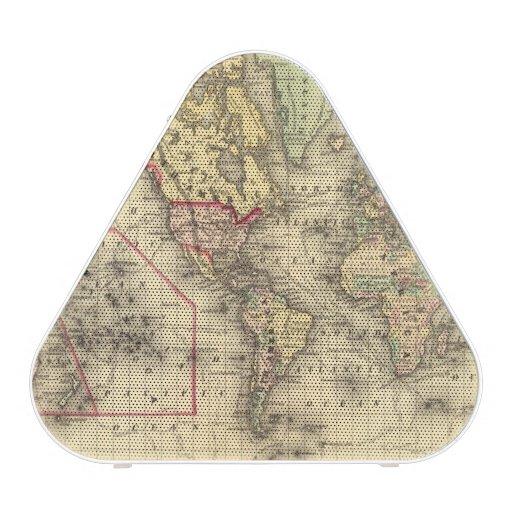 Mapa del mundo con las rutas marítimas de los expl altavoz bluetooth