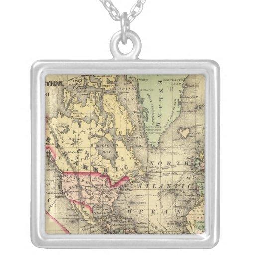 Mapa del mundo con las rutas marítimas de los expl pendientes personalizados