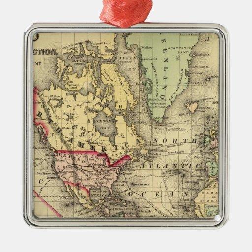 Mapa del mundo con las rutas marítimas de los expl ornamento para reyes magos