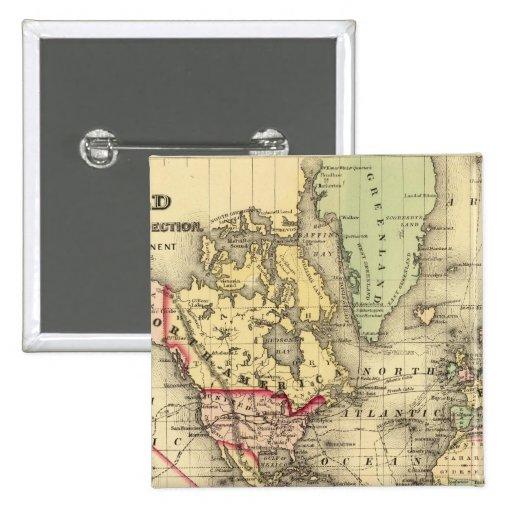 Mapa del mundo con las rutas marítimas de los expl pin