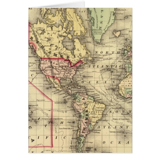 Mapa del mundo con las rutas marítimas de los expl tarjeta