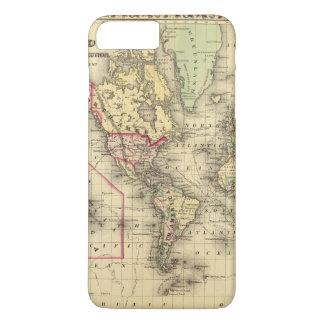 Mapa del mundo con las rutas marítimas de los funda iPhone 7 plus