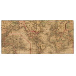 Mapa del mundo con las rutas marítimas de los pen drive de madera USB 2.0