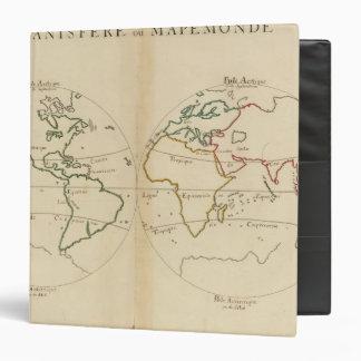 """Mapa del mundo con las zonas tropicales carpeta 1 1/2"""""""