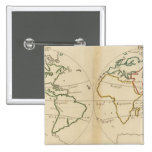 Mapa del mundo con las zonas tropicales pin cuadrado