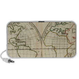 Mapa del mundo con latitud y Longititude Mini Altavoces