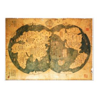 Mapa del mundo de 1418 chinos de Gavin Menzies Invitación Personalizada