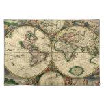 Mapa del mundo de 1689 regalos manteles individuales
