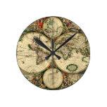 Mapa del mundo de 1689 regalos reloj